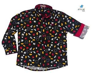 Camisa Mickey - Preta | Adulta