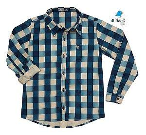 Camisa Tom - Xadrez Verde e bege | Fazendinha