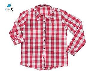 Camisa Cadú - Adulta | Vermelha Xadrez