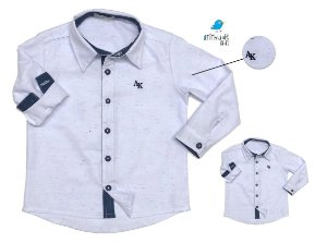 Kit camisa Fil - Tal pai, tal filho (duas peças) | Branca com detalhes