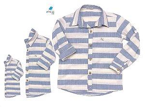 Kit camisa Matheus  - Linho | Família (três peças) | Manga Longa |