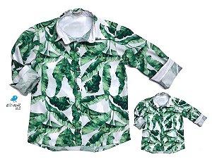 Kit camisa Dado - Tal pai, tal filho (duas peças) | Folhas