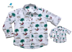 Kit camisa Frank - Tal pai, tal filho (duas peças)   Praia