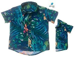 Kit camisa Henry - Tal pai, tal filho (duas peças) | Praia  | Viscolinho