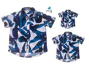 Kit camisa Noah - Família (três peças) | Manga Curta | Praia  | Viscolinho