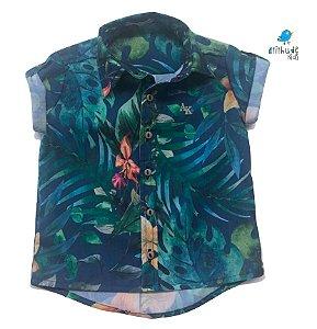 Camisa Henry - Estampa Praia     | Viscolinho