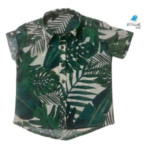 Camisa Luke - Estampa Safari       | Viscolinho