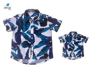 Kit Camisa Noah - Tal mãe, tal filho  (duas peças) | Praia    | Viscolinho