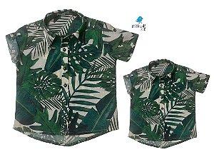 Kit Camisa Luke - Tal mãe, tal filho  (duas peças) | Safari    | Viscolinho