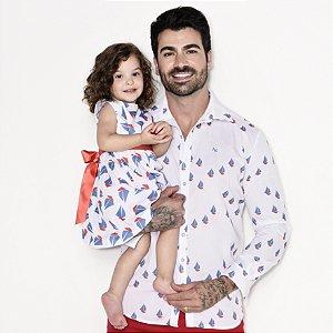 Kit camisa e vestido Theo - Tal pai, tal filha (duas peças)