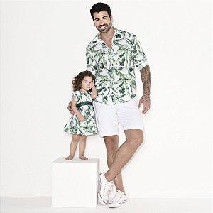 Kit camisa Dado e vestido Duda - Tal pai, tal filha (duas peças)