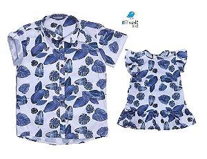 Kit camisa e vestido Cloe - Tal pai, tal filha (duas peças)