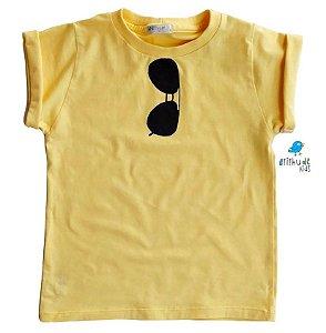 Camiseta Rayban - Adulta Amarela