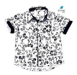 Camisa Mickey - Preta e Branca