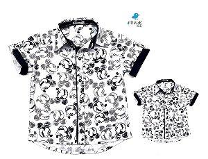 Kit camisa Mickey - Tal pai, tal filho (duas peças) | Mickey