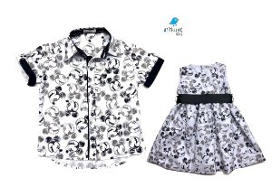 Kit camisa e vestido Mickey - Tal pai, tal filha (duas peças) | Mickey
