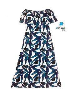 Vestido Nati - Estampa azul| Adulto | Microway | Noah