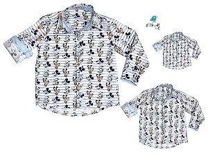 Kit camisa Mickey  -  Família (três peças) | Manga Longa | Pato Donald Pluto