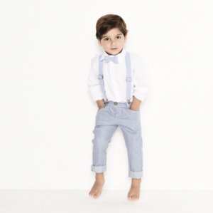 Conjunto Vittorio - Calça Alfaiataria, camisa e acessórios (4 peças) | Azul Petróleo