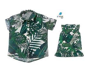 Kit camisa e vestido Luke e Lala - Tal pai, tal filha (duas peças)