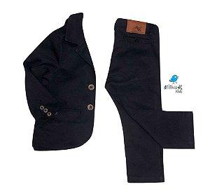 Conjunto Tim  - Preto | Sarja (Blazer e Calça)