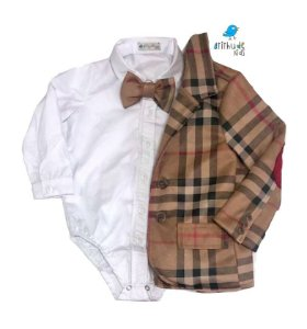 Conjunto Antony - Camisa, gravata e blazer (três peças)