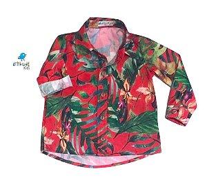 Camisa Dom -   Folhas Vermelha | Safari |