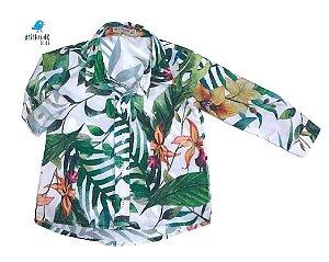 Camisa Dom -   Folhas Branca | Safari | Surf