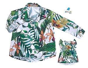 Kit camisa Dom e vestido Dai - Tal pai, tal filha (duas peças)