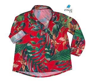 Camisa Dom - Folhas Vermelha | Adulta
