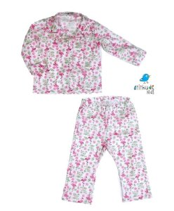 Pijama do Flamingos  - Rosa