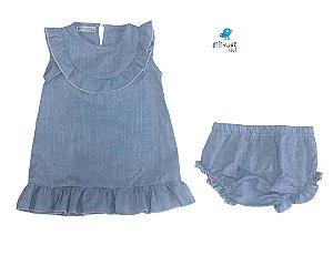 Vestido Fafá  - Linho | Borde o nome na calcinha