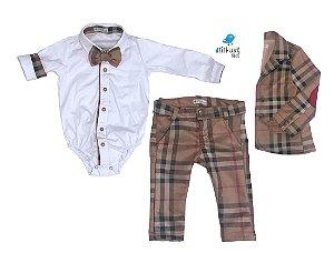 Conjunto Rafael - Camisa, gravata, calça e blazer (quatro peças)
