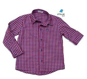 Camisa Cadú - Xadrez Lilás| Fazendinha