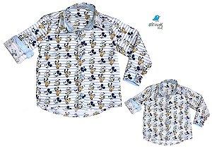 Kit Camisa Mickey - Tal mãe, tal filho  (duas peças) | Mickey Pato Donald Pluto