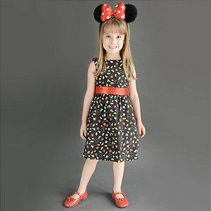 Vestido Minnie  - Minnie Preto  | Mickey