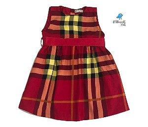 Vestido Olivia  - Xadrez vermelho    | Olavo