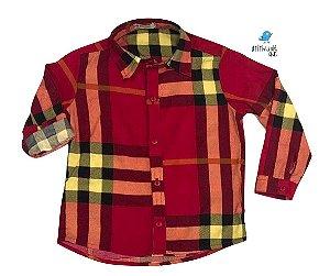 Camisa Olavo - Xadrez Vermelho| Fazendinha