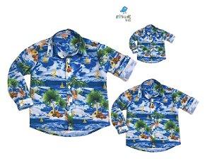 Kit camisa Max - Família (três peças) | Hawaii