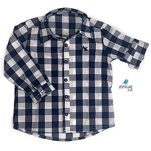 Camisa Cadú| Xadrez Azul Marinho  - Adulta