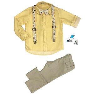 Conjunto Bentinho - Calça Alfaiataria, camisa e acessórios (4 peças) | DISNEY BABY