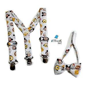 Kit Suspensório e gravata borboleta | ADULTO - Disney baby