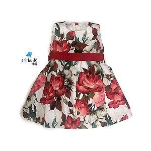 Vestido Adriana - Estampa Rosas vermelhas