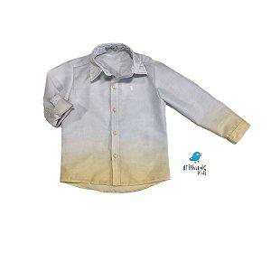 Camisa Enzo -   Tie Dye Cinza |Amarelo