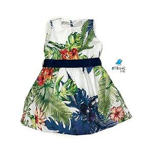 Vestido Vitória | Estampa folhas | Vicente