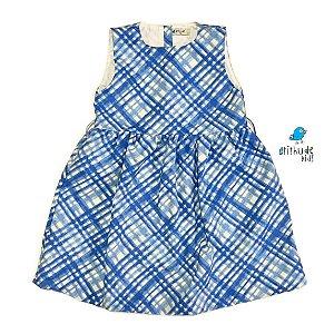Vestido Mari | Xadrez azul (1 peça)