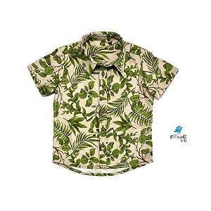 Camisa Luke | Estampada folhas | Safári