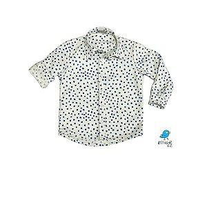 Camisa Guto | Poá aquarelado azul