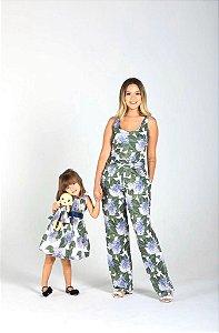 Conjunto Vicky - Mãe e filha | Vestido e Macacão