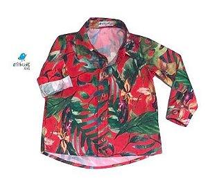 Camisa Dom -   Folhas Vermelha | Safari |Pronta entrega